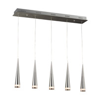 PLC Lighting Bitro 1 Light Pendant in Aluminum 96915AL