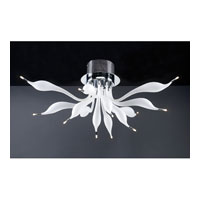 PLC Lighting Dove Flush Mount in Polished Chrome with Frost Glass 96922-PC