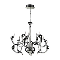 PLC Lighting Swan 15 Light Chandelier in Polished Chrome 96934-PC