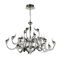 Swan 24 Light 42 inch Polished Chrome Chandelier Ceiling Light