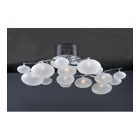 PLC Lighting Comolus 8 Light Flush Mount in Polished Chrome 96942-PC