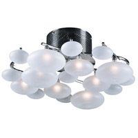 Comolus 8 Light 19 inch Polished Chrome Semi-Flush Mount Ceiling Light
