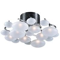 PLC Lighting 96944PC Comolus 8 Light 19 inch Polished Chrome Semi-Flush Mount Ceiling Light