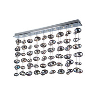 Bubbles 4 Light 30 inch Polished Chrome Linear Light Ceiling Light