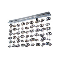 Bubbles 8 Light 60 inch Polished Chrome Linear Light Ceiling Light in Iridescent