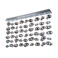Bubbles 12 Light 96 inch Polished Chrome Linear Light Ceiling Light