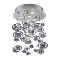 PLC Lighting Bubbles 4 Light Flush Mount in Polished Chrome 96962-PC