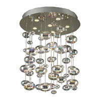 PLC Lighting Bubbles Chandelier in Polished Chrome with Iridescent Glass 96964-PC