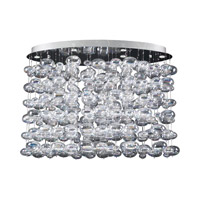 PLC Lighting Bubbles Chandelier in Polished Chrome with Iridescent Glass 96967-PC
