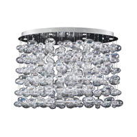 PLC Lighting Bubbles Chandelier in Polished Chrome with Iridescent Glass 96969-PC