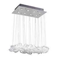 PLC Lighting Elegance Chandelier in Polished Chrome with Clear Ribbed Glass 96971-PC