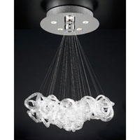 PLC Lighting Elegance Chandelier in Polished Chrome with Clear Ribbed Glass 96978-PC