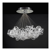 PLC Lighting Elegance Chandelier in Polished Chrome with Clear Ribbed Glass 96979-PC