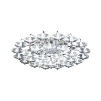 PLC Lighting Diamenete Flush Mount in Polished Chrome with Clear Glass 96981-PC
