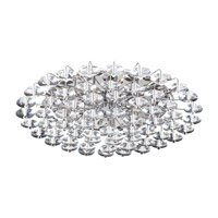 PLC Lighting Diamenete Flush Mount in Polished Chrome with Clear Glass 96983-PC