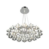 PLC Lighting Diamenete Chandelier in Polished Chrome with Clear Glass 96985-PC