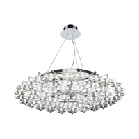 PLC Lighting Diamenete Chandelier in Polished Chrome with Clear Glass 96987-PC