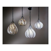 PLC Lighting Drop-I Pendant in Black with Kaleidoscope Glass 9700-KALEID/BK photo thumbnail