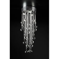 PLC Lighting Pearl Flush Mount in Polished Chrome with Clear Glass 97110-PC