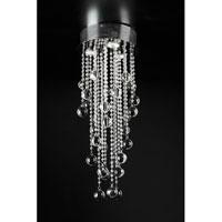 PLC Lighting 97110-PC Pearl 3 Light 10 inch Polished Chrome Flush Mount Ceiling Light