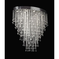 PLC Lighting Pearl Oval Chandelier in Polished Chrome with Clear Glass 97111-PC