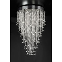 PLC Lighting Pearl Round Chandelier in Polished Chrome with Clear Glass 97112-PC