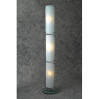 PLC Lighting Apex 3 Light Floor Lamp in Polished Chrome and Acid Frost Glass 98857