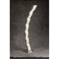 PLC Lighting Cobra Floor Lamp in Aluminum with Acid Frost Glass 98885-AL photo thumbnail
