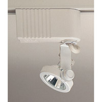 PLC Lighting Gimbal 1 Light Track Fixture in White TR10-WH