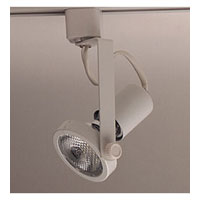 PLC Lighting Gimbal 1 Light Track Fixture in White TR122-WH