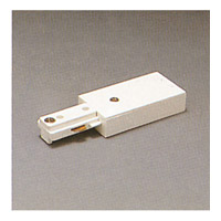 PLC Lighting Track Accessories 1-circuit Live end in White TR127-WH