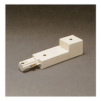 PLC Lighting Track Accessories 1-Circuit End Power Feed in White TR128-WH
