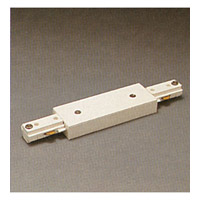 PLC Lighting TR130-WH One-circuit 120V White Straight Joiner Ceiling Light Track Lighting