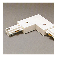 PLC Lighting Track Accessories 1-Circuit L Connector in White TR131-WH