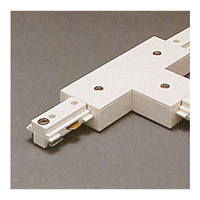 One-Circuit White T Connector, Track Lighting