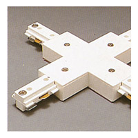 PLC Lighting Track Accessories 1-Circuit X Connector in White TR133-WH photo thumbnail
