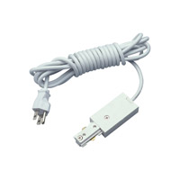 PLC Lighting Track Accessories 12in Grounded Cord and Plug in White TR135-WH