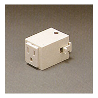 PLC Lighting Track Accessories Outlet Adaptor in White TR139-WH