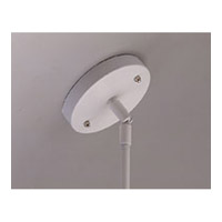 PLC Lighting Track Accessories Slope Pendant Adaptor in White TR146-WH