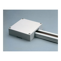 PLC Lighting Track Accessories T-bar end-feed box in White TR153-WH