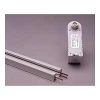 PLC Lighting Track Accessories Low Voltage Pendant Adaptor in White TR154-WH