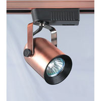 PLC Lighting Delta 1 Light Track Fixture in Copper TR19-CP