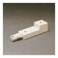 PLC Lighting Track Accessories 2-Circuit End Power Feed in White TR2128-WH