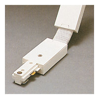 PLC Lighting Track Accessories 2-Circuit Flexible Connector in White TR2134-WH