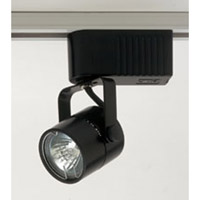 PLC Lighting Slick 1 Light Track Fixture in Black TR28-BK