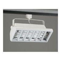 PLC Lighting Biax-CFL Track Fixture in White TR552-WH