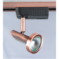 PLC Lighting Valli 1 Light Track Fixture in Copper TR70-CP