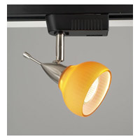 PLC Lighting Aspen 1 Light Track Fixture in Satin Nickel TR92-AMBER