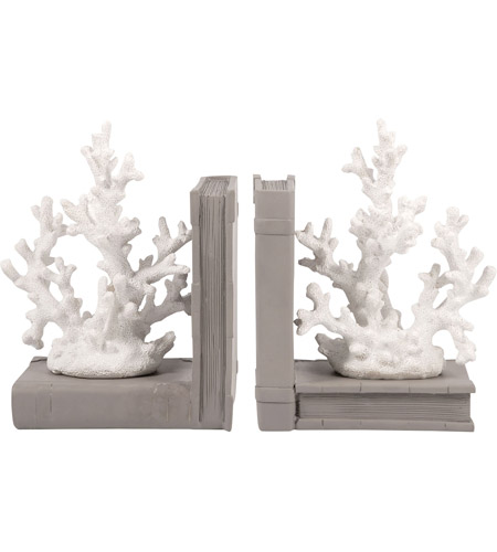 Pomeroy 000522 Coralyn 6 X 4 inch Grey/White Bookend photo