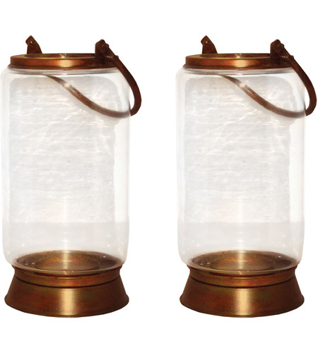 Pomeroy 401329/S2 Taos 10 X 6 inch Burned Copper Outdoor Lanterns, Small photo